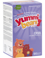 Hero Nutritionals Yummi Bears DHA, 90 gummi bears | NutriFarm.ca