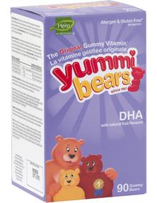 Hero Nutritionals Yummi Bears DHA, 90 gummi bears | NutriFarm.ca