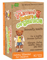 Hero Nutritionals Yummi Bears Organics Immunity Health, 90 gummies | NutriFarm.ca