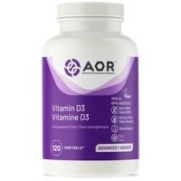 AOR Vitamin D3, 120 Vegetable Softgels | NutriFarm.ca