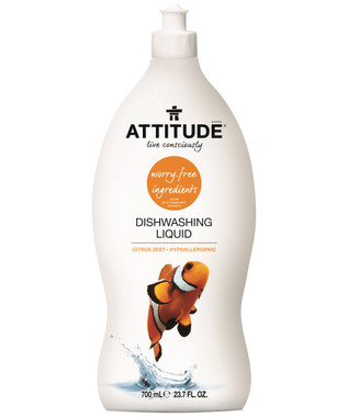 Attitude Dishwashing Liquid Citrus Zest, 700 ml | NutriFarm.ca