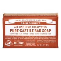 Dr. Bronner's Eucalyptus Pure Castile Bar Soap, 140 g | NutriFarm.ca