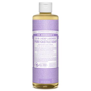 Dr. Bronner's Organic Lavender Oil Pure Castile Liquid Soap, 472 ml | NutriFarm.ca