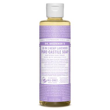 Dr. Bronner's Organic Lavender Oil Pure Castile Liquid Soap, 236 ml | NutriFarm.ca