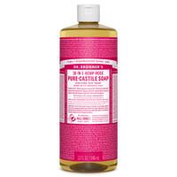 Dr. Bronner's Organic Rose Oil Castile Liquid Soap, 946 ml | NutriFarm.ca