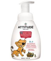 Attitude Little Ones 3-in-1 Foaming Wash Pomegrante, 300 ml | NutriFarm.ca
