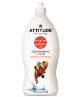 Attitude Dishwashing Liquid Pink Grapefruit, 700 ml | NutriFarm.ca