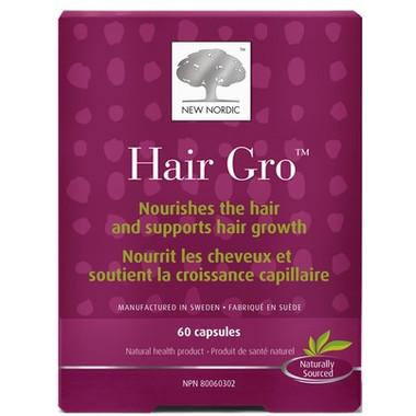 New Nordic Hair Gro, 60 Capsules | NutriFarm.ca