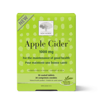 New Nordic Apple Cider Vinegar 1000, 30 Tablets | NutriFarm.ca