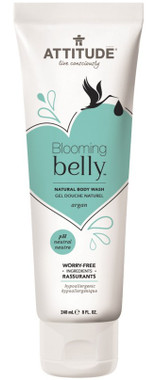 Attitude Blooming Belly Natural Body Wash Argan, 240 ml | NutriFarm.ca