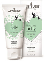 Attitude Blooming Belly Natural Cream for Tired Legs Mint, 75 g | NutriFarm.ca