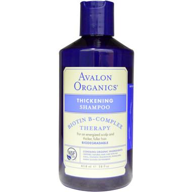 Avalon Organics Biotin B-Complex Thickening Shampoo, 414 ml | NutriFarm.ca