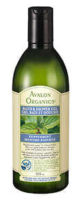 Avalon Organics Peppermint Bath & Shower Gel, 355 ml | NutriFarm.ca