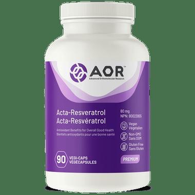 AOR Acta-Resveratrol 80 mg, 90 Vegetable Capsules | NutriFarm.ca