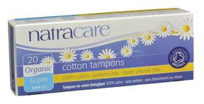 Natracare Organic Super Non-Applicator Tampons, 20 tampons | NutriFarm.ca