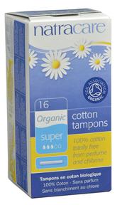 Natracare Organic Super Applicator Tampons, 16 tampons | NutriFarm.ca
