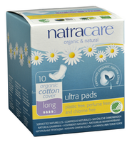 Natracare Ultra Pads with Wings Long, 10 pads | NutriFarm.ca