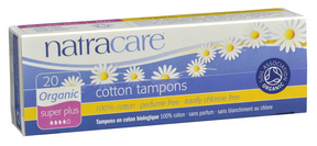 Natracare Organic Super Plus Non-Applicator Tampons, 20 tampons | NutriFarm.ca