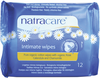 Natracare Organic Cotton Intimate Wipes, 12 wipes | NutriFarm.ca