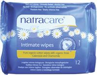 Natracare Organic Cotton Intimate Wipes, 12 wipes | NutriFarm.ca