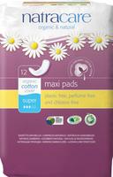 Natracare Natural Maxi Pad Super, 12 pads | NutriFarm.ca