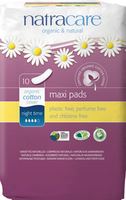 Natracare Natural Maxi Pad Night time, 10 pads | NutriFarm.ca