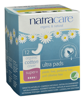 Natracare Natural Ultra Pads Super Plus, 12 pads | NutriFarm.ca