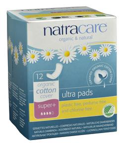 Natracare Natural Ultra Pads Super Plus, 12 pads | NutriFarm.ca