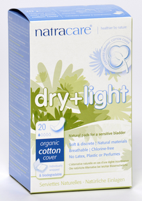 Natracare Dry & Light Incontinence Pads, 20 pads | NutriFarm.ca