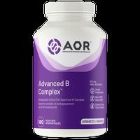 AOR Advanced B Complex 602 mg, 180 Vegetable Capsules | NutriFarm.ca