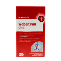 Wobenzym Plus, 240 entric-coated tablets | NutriFarm.ca