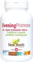New Roots Evening Primrose Oil (Certified Organic) 1000 mg, 90 Softgels | NutriFarm.ca