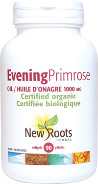 New Roots Evening Primrose Oil (Certified Organic) 1000 mg, 90 Softgels | NutriFarm.ca
