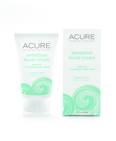ACURE Sensitive Facial Cream, 50 ml | NutriFarm.ca