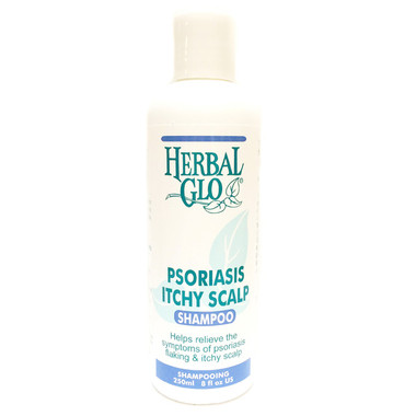 Herbal Glo Psoriasis and Itchy Scalp Shampoo, 250 ml | NutriFarm.ca