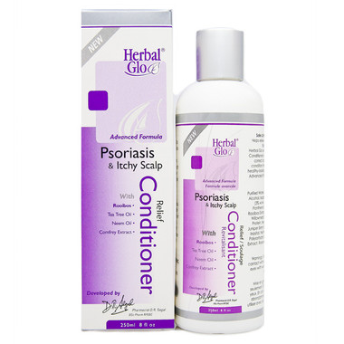 Herbal Glo Psoriasis and Itchy Scalp Conditioner, 250 ml | NutriFarm.ca