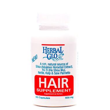 Herbal Glo Hair Supplement, 60 Capsules | NutriFarm.ca