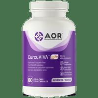 AOR CurcuViva, 60 Vegetable Capsules | NutriFarm.ca