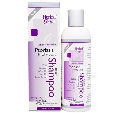 Herbal Glo Psoriasis and Itchy Scalp Relief Shampoo, 250 ml | NutriFarm.ca
