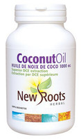 New Roots Coconut Oil Extra Virgin 1000 mg, 120 Softgels | NutriFarm.ca