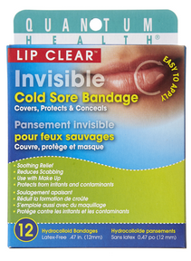Quantum Lip Clear Cold Sore Bandage, 12 bandages | NutriFarm.ca