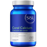 SISU Coral Calcium 250mg, 100 Vegetable Capsules | NutriFarm.ca