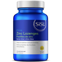 SISU Zinc Lozenges Lemon Lime Flavour, 30 Lozenges | NutriFarm.ca