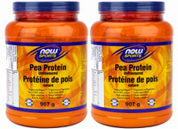 NOW Pea Protein Unflavoured , 2 x 907 g | NutriFarm.ca
