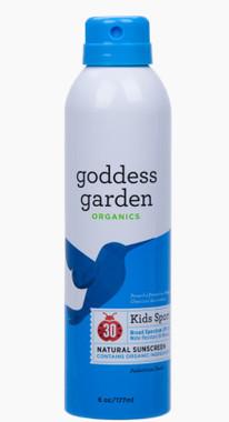 Goddess Garden Kids Sport Natural Sunscreen Continuous Spray SPF 30, 177 ml | NutriFarm.ca