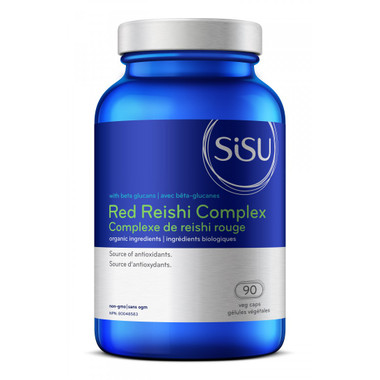 SISU Red Reishi Complex, 90 Vegetable Capsules | NutriFarm.ca