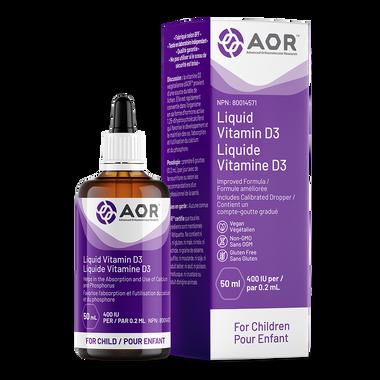 AOR Vitamin D3 Liquid Child, 50 ml   NutriFarm.ca