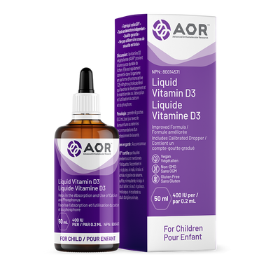 AOR Vitamin D3 Liquid Child, 50 ml | NutriFarm.ca