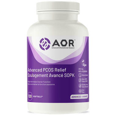 AOR Advanced PCOS Relief, 120 V Softgels | NutriFarm.ca