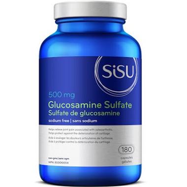 SISU Glucosamine Sulfate 500 mg, 180 Capsules   NutriFarm.ca